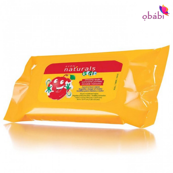 Avon Naturals Kids Amazing Apple Hand & Face Wipes