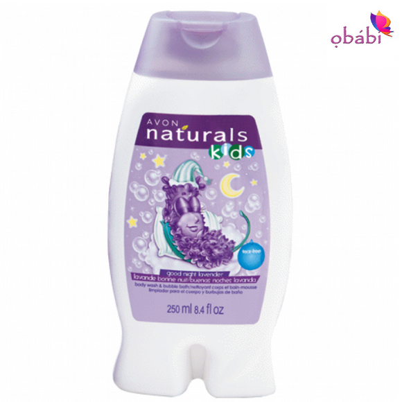 Avon Naturals Kids Good Night Lavender Body Wash & Bubble Bath