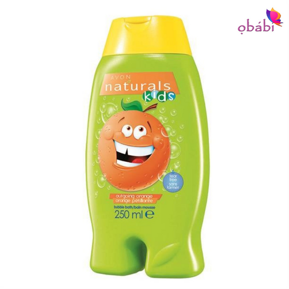 Avon Naturals Kids Outgoing Orange Body Wash & Bubble Bath.