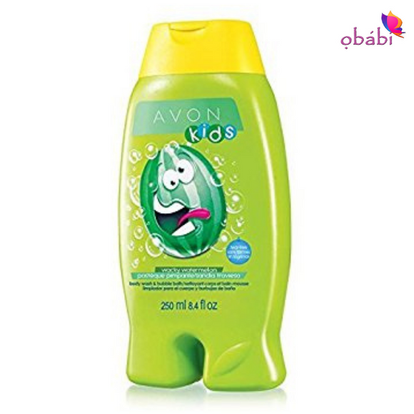 Avon Naturals Kids Wacky Watermelon Body Wash & Bubble Bath