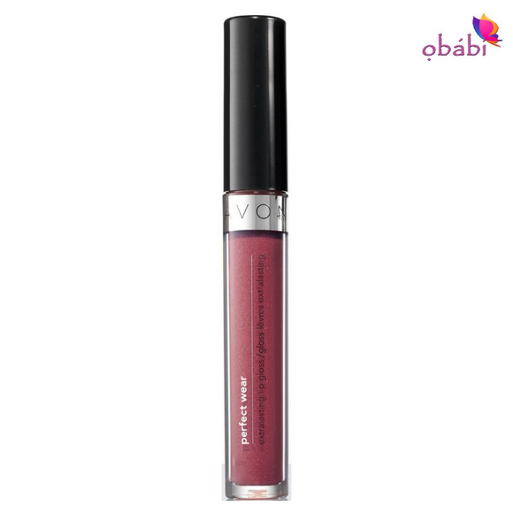 Avon Perfect Wear Extralasting Lip gloss | Lingering Plum.