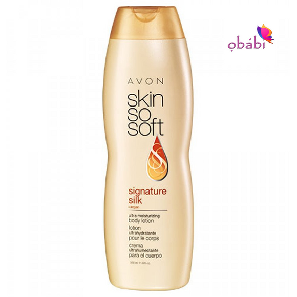 Avon Skin So Soft Signature Silk Ultra + argan Moisturizing Body Lotion | 350ml