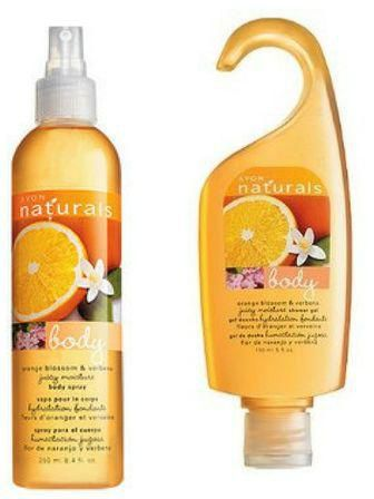 Avon Naturals Orange Blossom And Verbena Body Spray And Shower Gel Bundle