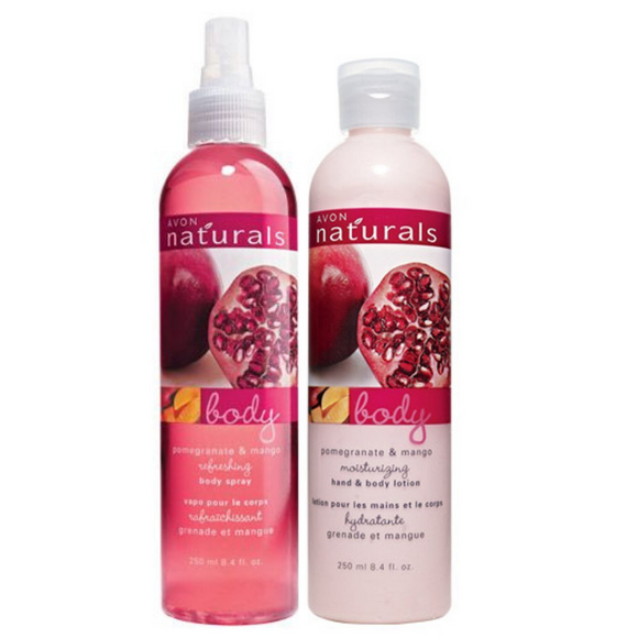 Avon Naturals Pomegranate & Mango 2  Piece Fragrance Set