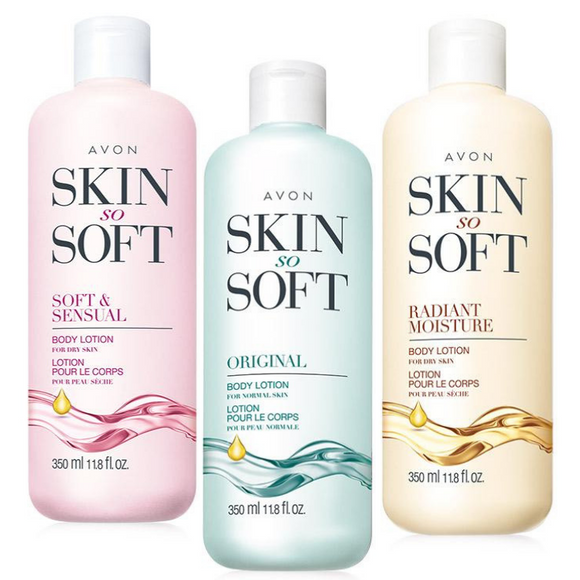 Avon Skin So Soft Body Lotion 3-Piece Set