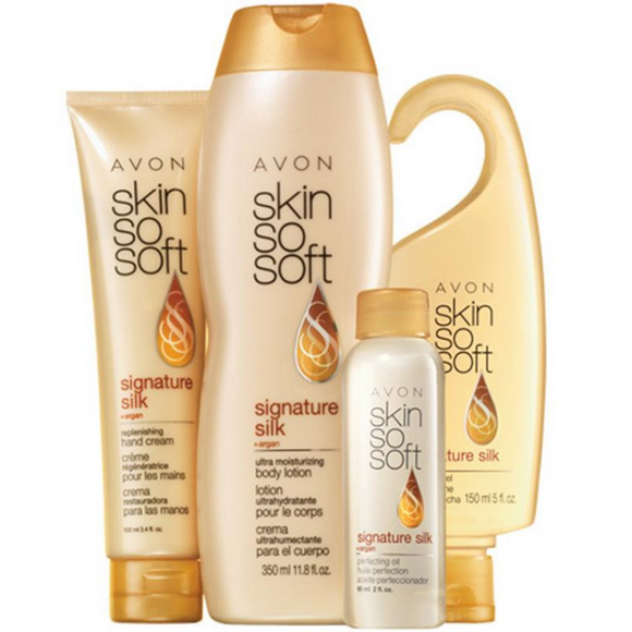 Avon Skin So Soft Signature Silk 4-Piece Silky & Beautiful Collection.