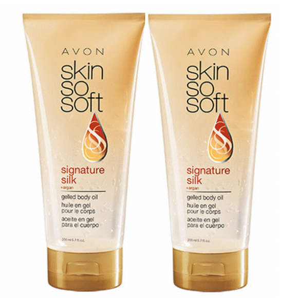 2 X Avon Skin So Soft Signature Silk +Argan Gelled Body Oil