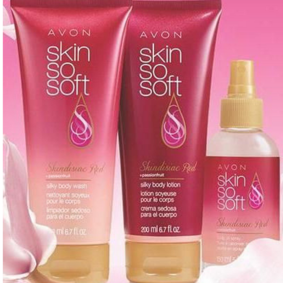 Avon Skin So Soft Skindisiac Red 3-Piece Collection