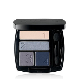 Avon True Color Eye Shadow Quad | Steel Blues.