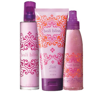 Avon Bali Bliss Fragrance Collection.