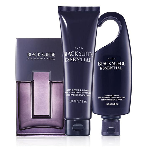 Avon Black Suede Essential Fragrance Collection.