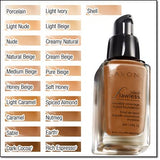 Avon Ideal Flawless Invisible Coverage Liquid Foundation | Earth