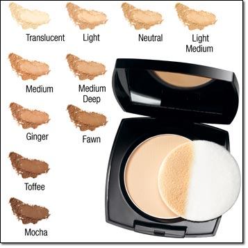 Avon Ideal Flawless Pressed Powder | Light Medium
