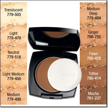 Avon Ideal Shade Pressed Powder |  Light Medium