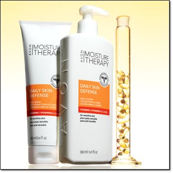 Avon Moisture Therapy Daily Skin Defense Body Duo