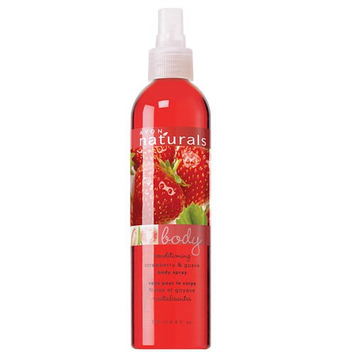 Avon Naturals Strawberry & Guava Body Spray.