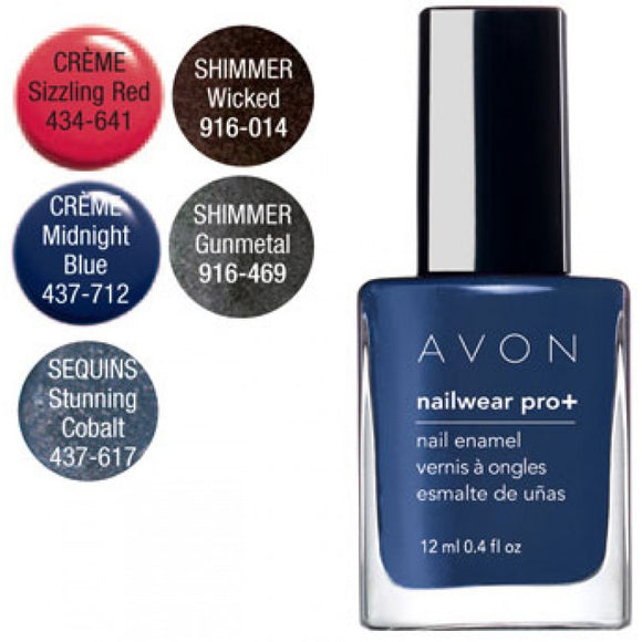 Avon Nailwear Pro+ Nail Enamel | Midnight Blue