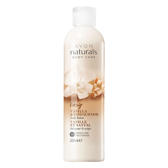 Avon Naturals Cozy Vanilla & Sandalwood Body Lotion