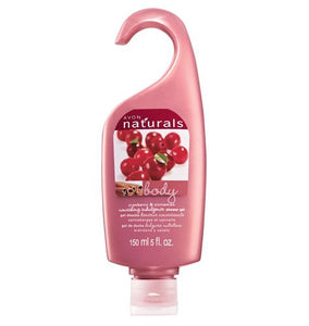 Avon Naturals Cranberry and Cinnamon Shower Gel.