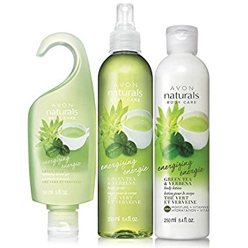 Avon Naturals Green Tea And Verbena 3 Piece Fragrance Set