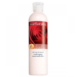 Avon Naturals Red Rose & Peach Moisturizing Hand & Body Lotion
