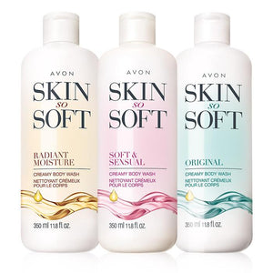 Avon Skin So Soft Creamy Body Wash 3-Piece Set
