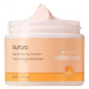 Avon Solutions Nurtura Replenishing Cream.