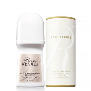 Avon Rare Pearls Roll-On & Shimmering Body Powder.