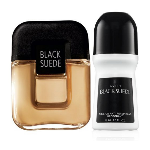 Avon Black Suede Cologne Spray & Roll On.