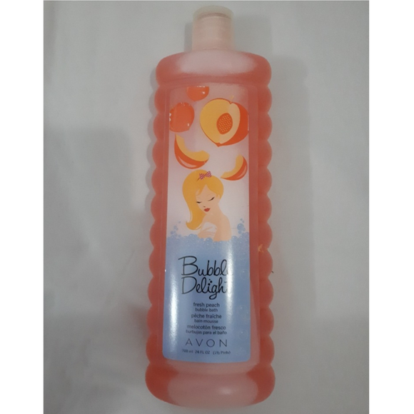Avon Bubble Delight Fresh Peach Bubble Bath 700ml.