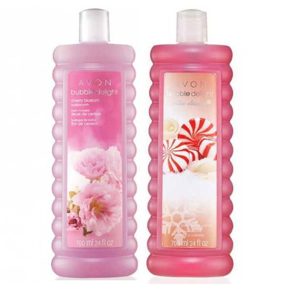 Avon Bubble Delight Cherry Blossom & Peppermint Vanilla Bubble Bath Duo.
