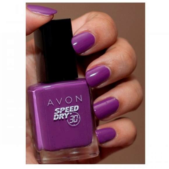 Avon Speed Dry+30 Nail Enamel | Pronto Purple