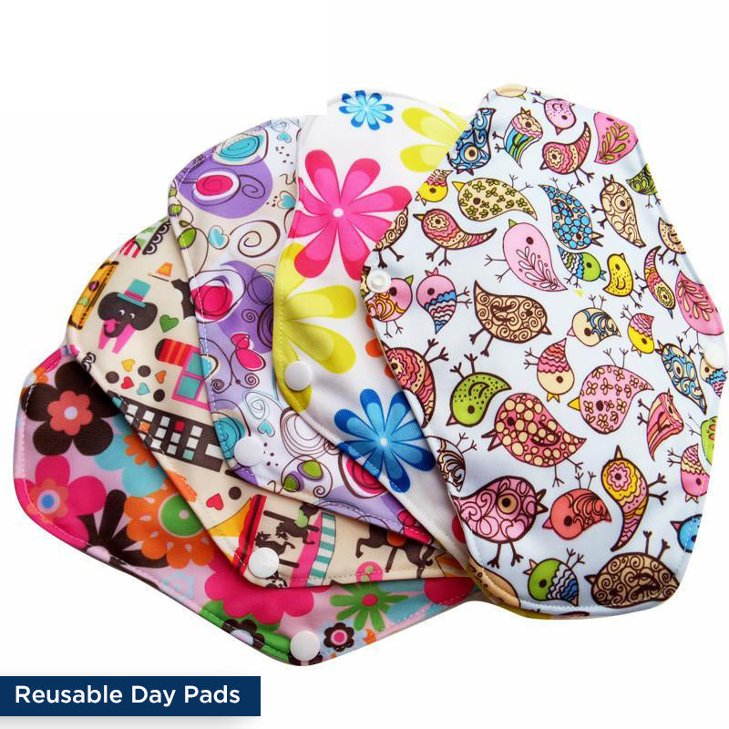 Reusable Panty Liners & Day Pads Kit (5+5) + FREE Wet Bag