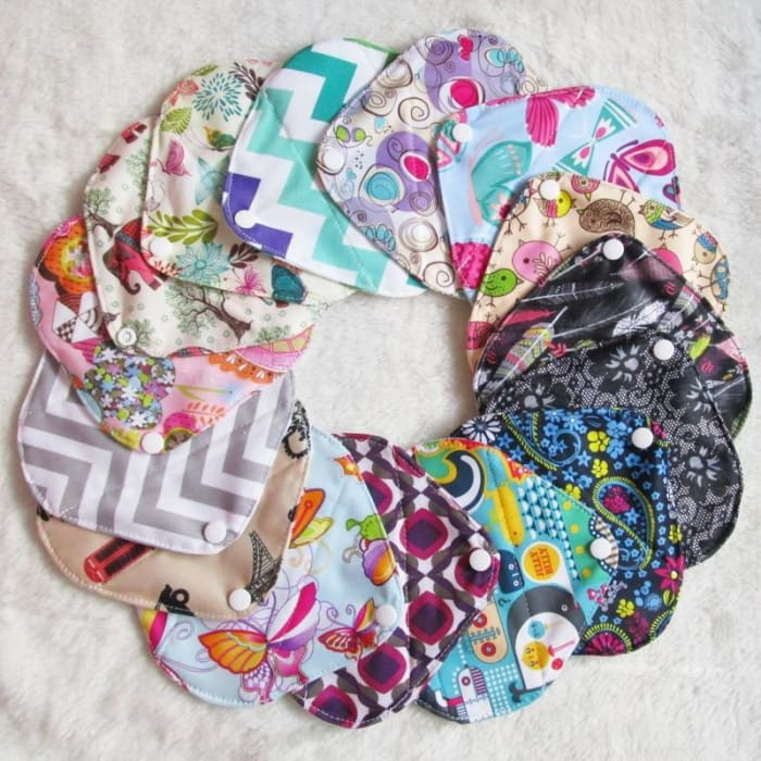 Reusable Panty Liners Set 5 Pieces  Free Wet Bag -6884