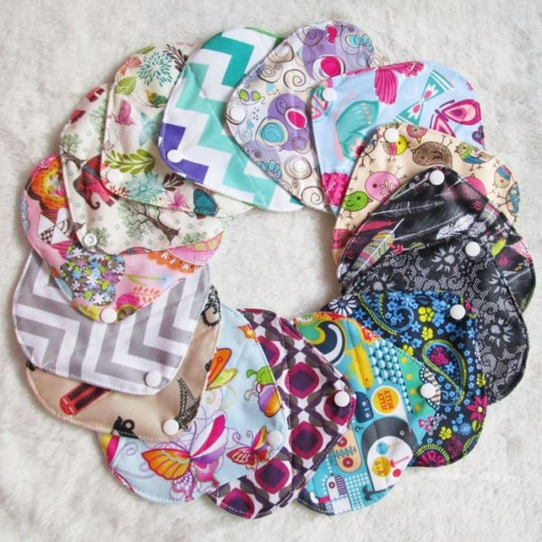 Mypads Reusable Panty Liners (Set Of 5 + Free Wet Bag)