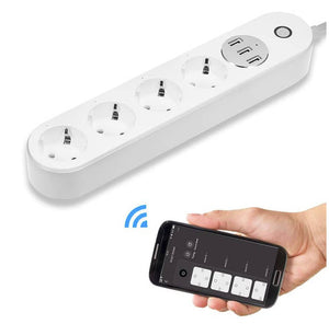 Tomada Inteligente SMART SOCKET 4 Tomadas + USB - via Smart Life APP - CITYFARMERS