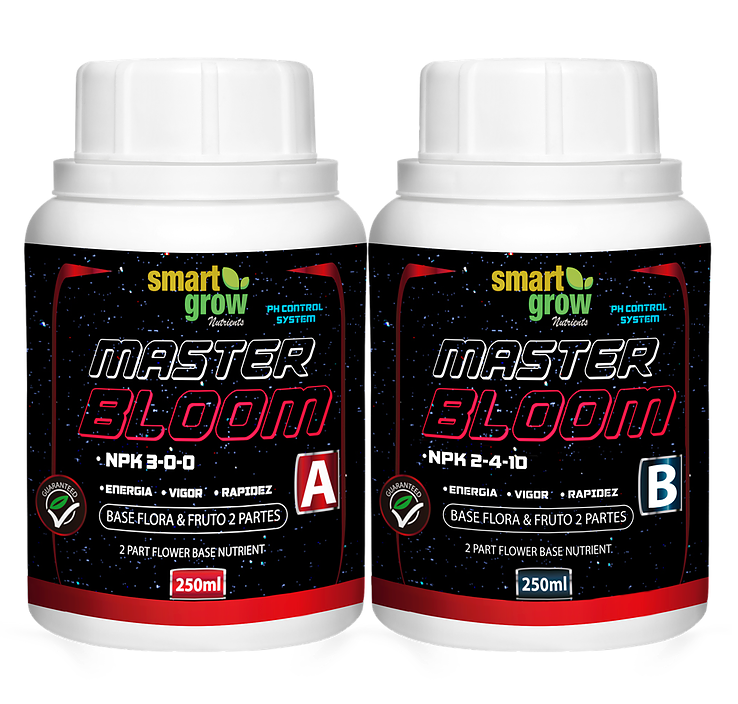 Smart Grow PH Control MASTER BLOOM A+B 250ml x 2 - CITYFARMERS