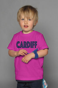 Be Bold Cardiff youth berry t-shirt