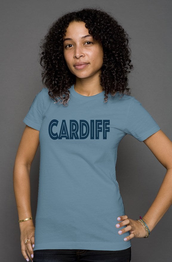 Be Bold Cardiff Women's fitted t-shirt