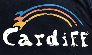 Kids Vintage Cardiff Surf-Bow T-Shirt