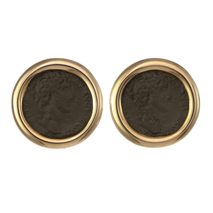 Polished Round Coin Earrings