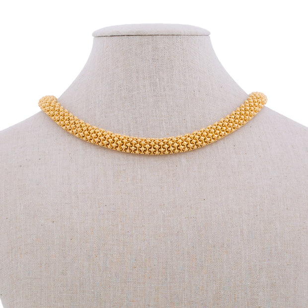 Gold Caviar Necklace