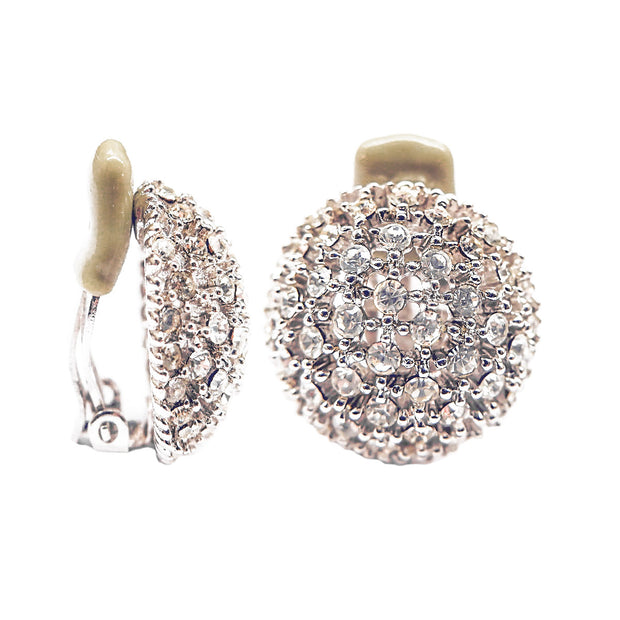 Crystal Button Earrings