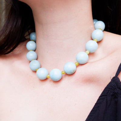 Vintage Amazonite and Gaspeite Semi-Precious Necklace