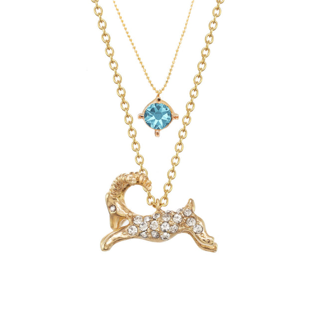 Aries Birthstone Charm Necklace