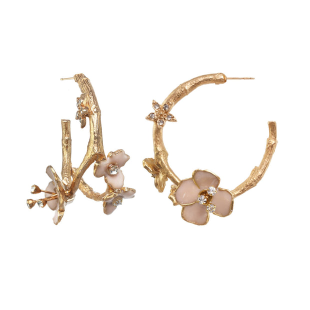 Blossom Hoop Earrings
