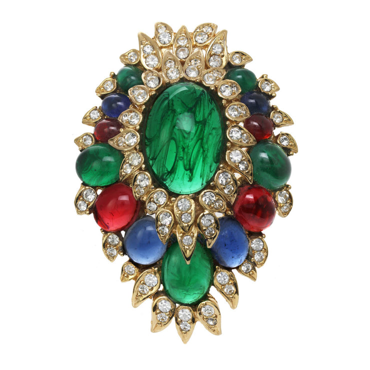 Gemstone Princess Statement Pin Pendant
