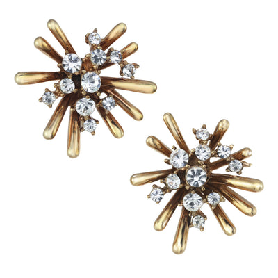 Medium Gold Sputnik Earring