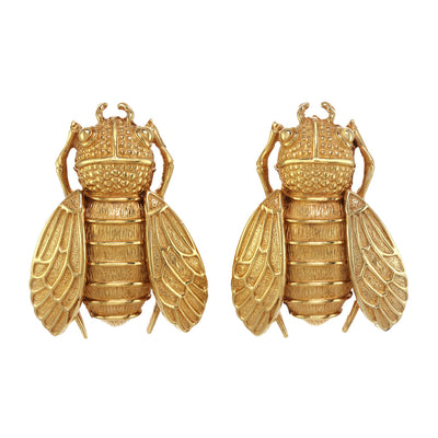 The Golden Cicada Earring