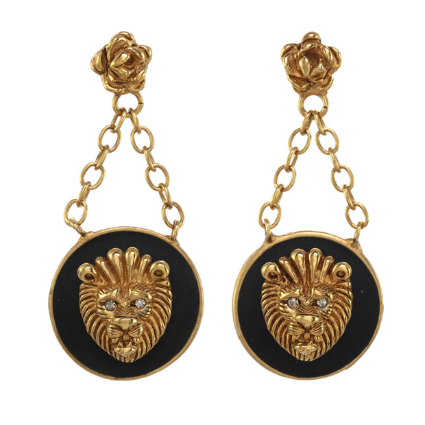 Lion Door Knocker Drop Earrings